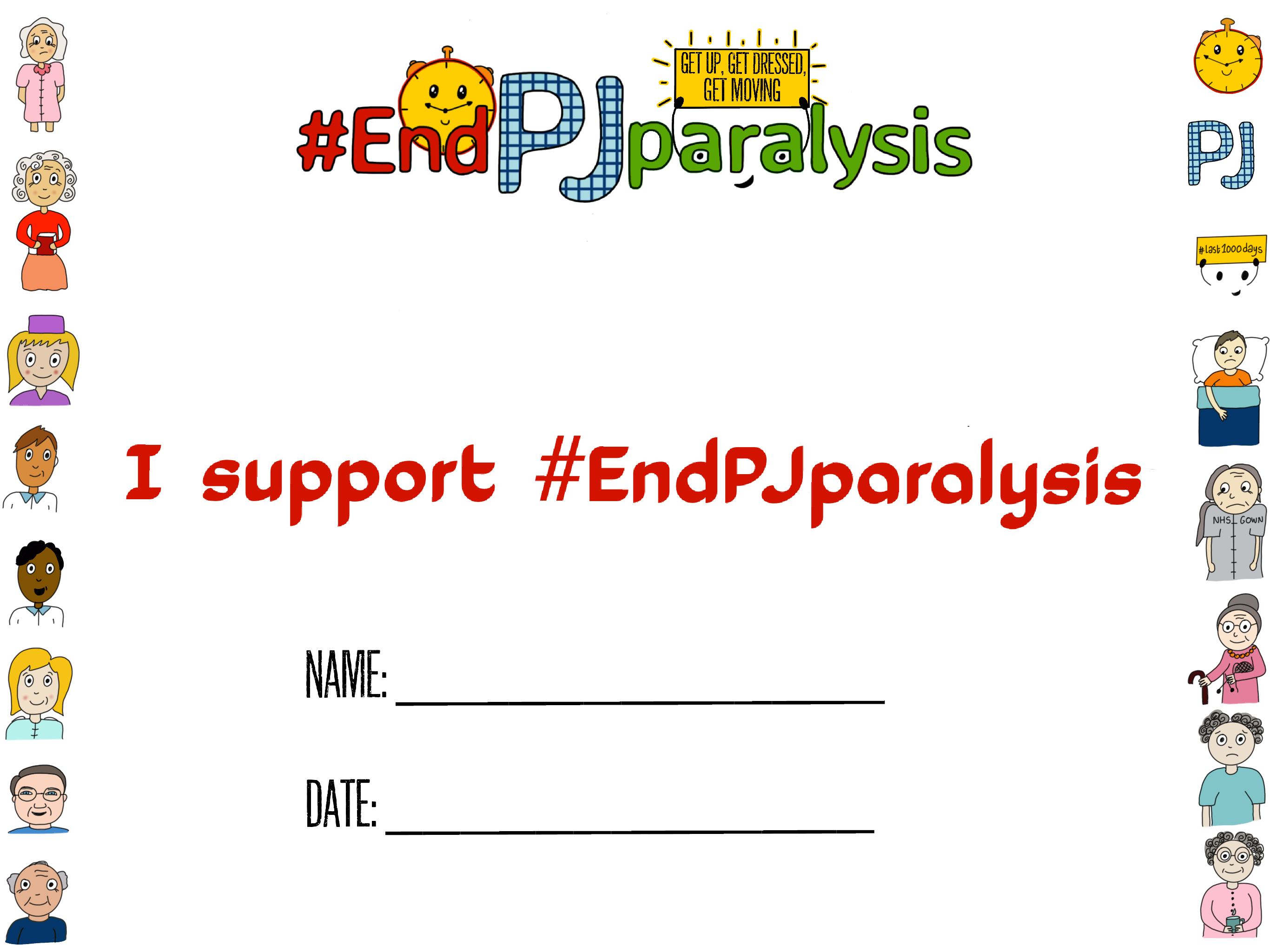 I support #EndPJparalysis pledge